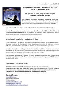 Communiqué de presse compilation les guitares du coeur sortie 15 decembre 2013-page-0